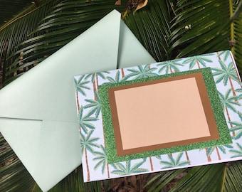 Palm tree blank card