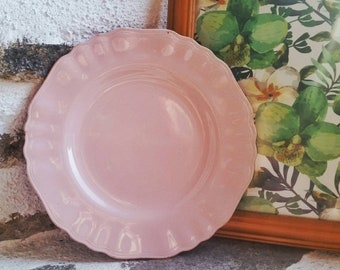 J&G Meakin Glamour range plate, Rosa side plate, small vintage plate, pastel pink plate, 1950s vintage kitchen style, retro home decor
