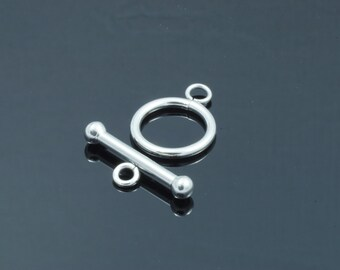 Stainless Steel Ring Toggle and T bar Clasp