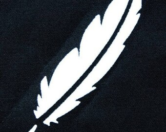 Fusible feather 100 X 25 mm white velvet