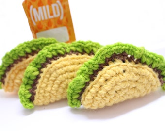 CatNip Taco, Cat toy, Taco cat toy, Canadian CatNip, Cat Nip Crochet Toy, Crochet Cat Toy, Taco Tuesday, Gifts for Cats