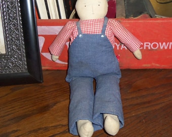 Primitive White Folk Art Doll Primitive Doll Folk Art