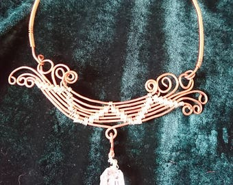 Woven Copper Wire Wrap Choker