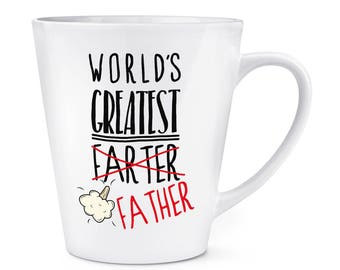 World's Greatest Farter Father 12oz Latte Mug Cup