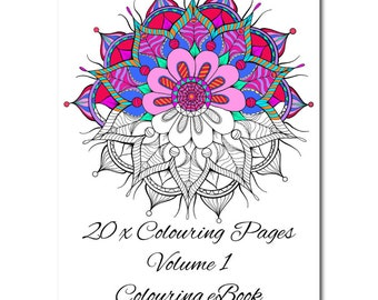 20 Colouring Page Volume 1 Colouring eBook, 20 x Vector Prints Colouring Pages