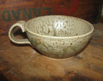Cappuccino or Latte cup - Soup Cup - Small Size - Handmade Soup Bowl or Cup - 12 fl. oz - Christmas gift - Ash Glaze