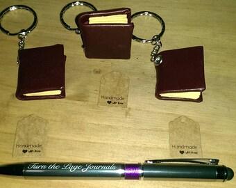 Miniature Book Keyring/key chain - Keychain Charm - Book Keychain - Book Keyring - Book Charm - Miniature Book- Made in Scotland