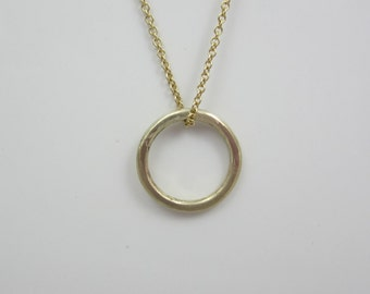 Circle Necklace| Eternity Circle Necklace| 14K Recycled Yellow Gold| Eco Friendly| Ethical| Minimalist