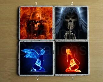 Evil Stone Coaster - Set of 4