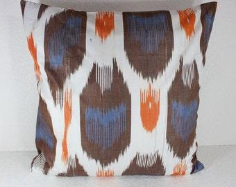 Cotton Ikat Pillow, Ikat Pillow Cover,  C153, Ikat throw pillows, Designer pillows, Decorative pillows, Accent pillows