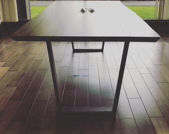 Live Edge Conference Table with codr chase