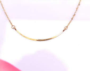 Cresent Necklace/Minimalist Necklace/Modern Necklace/Gold/Silver