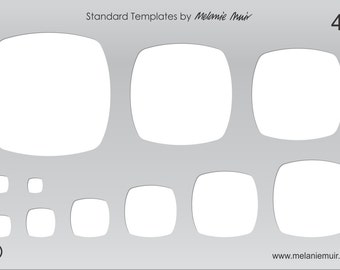 NEW: No 43 Clear Acrylic Template/Stencil for Polymer/Metal Clay/Jewellery/Crafting