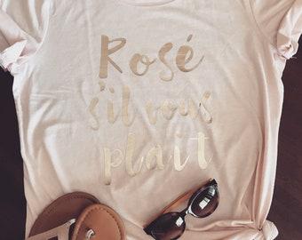 Rose pink Tee