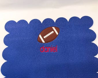 Personalized Baby Mat with vinyl football