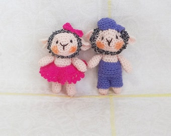 Soft toy sheep handmade
