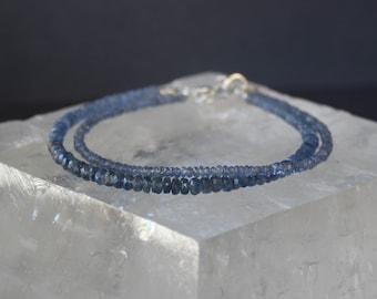 Sapphire Bracelet, All Sapphire Bracelet, Blue Sapphire Bracelet, Gemstone Bracelet, Blue Bracelet, All Natural Sapphire Bracelet