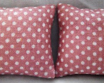 1/12th Scale Dolls House Cushions A Million Spots Pink & White