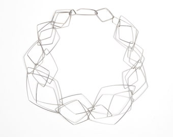 Short layered chain necklace - stainless steel