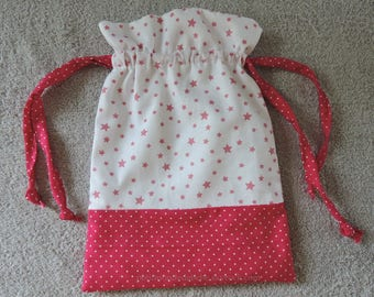 Fabric and cotton pouch