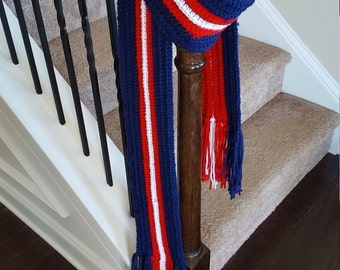 Tassel Scarf Custom Colors Perfect for Sporting Events