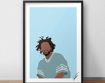 J Cole INSPIRED Print / Poster