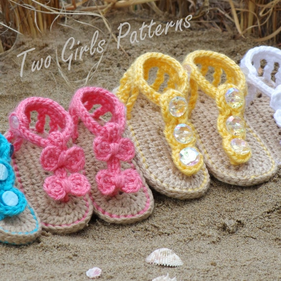 Baby Crochet Pattern Sandal 2 Versions And Free Barefoot