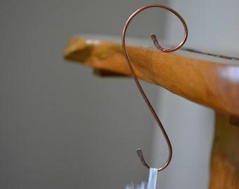 Set of 4 - Stocking Hanger, Christmas decor, Stocking Holder, Mantel stocking hanger, Copper