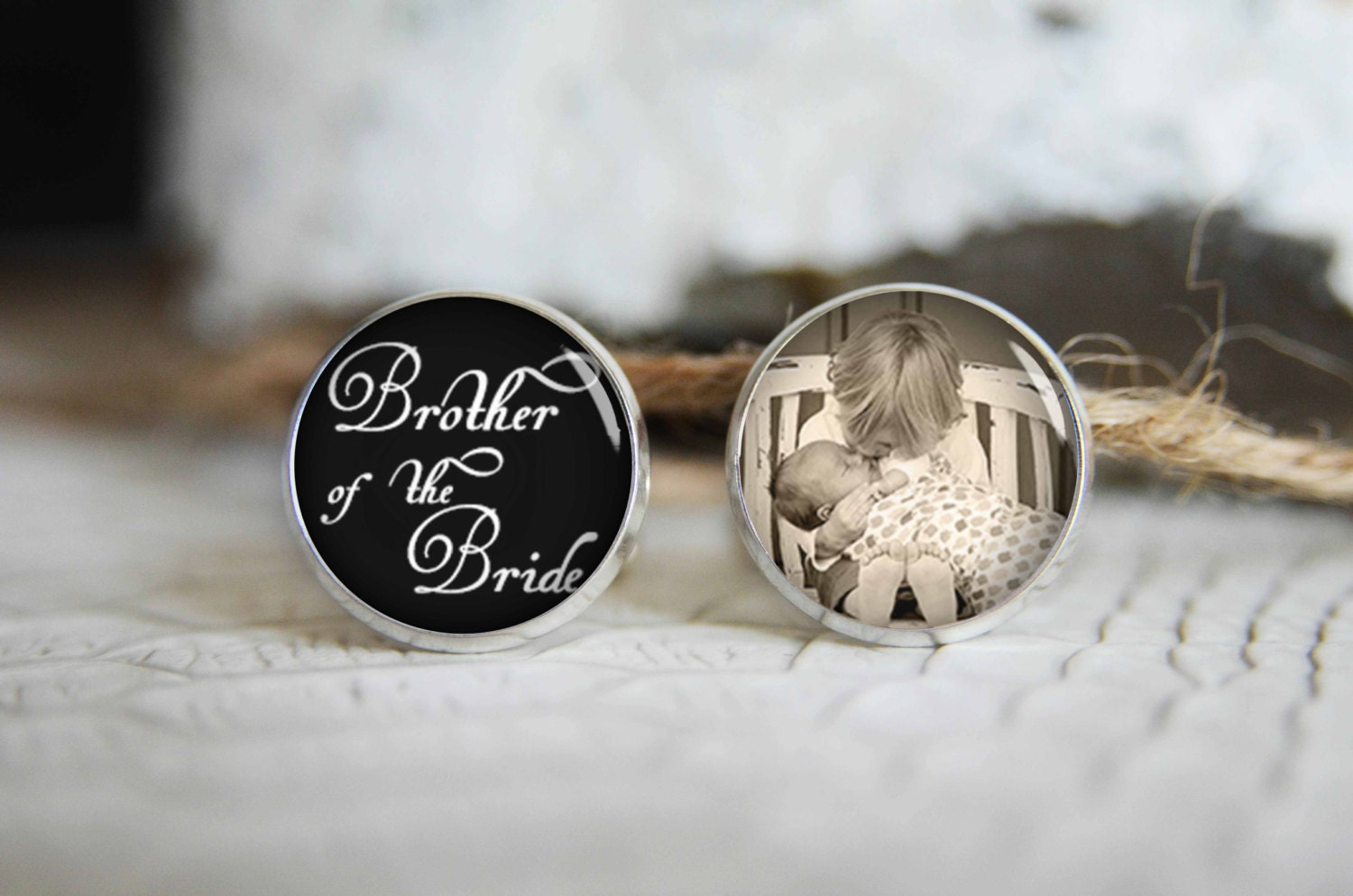 Chinese Wedding Gift Money Amount: Brother Of The Bride Personalized Photo Cufflinks Cool Gifts
