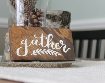 Gather Wood Sign Mini