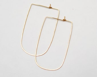 Squared Oval Hoops