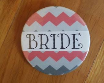 Bride, Bride Pin, Bride Button, Bridesmaid Pin, Team Bride Pins, Hen Night, Bachelorette Party, Engagement, Bride Accessory, Wedding Pin