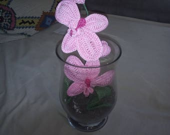 Crochet Orchid in a glass