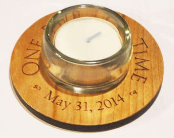 One Day At A Time Customized Candleholder