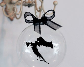 Croatia Christmas Ornament, Custom, Adoption, Travel