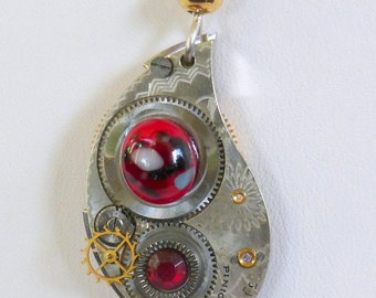 Steampunk Necklace --Vintage Watch Movement  SN229