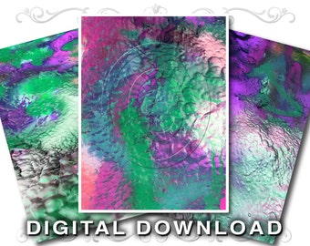 3 Graffiti Paint Stock Photo Textures | Alien Landscape | Southwest | Small Business & Commercial Use | Paint-01 Purple Green