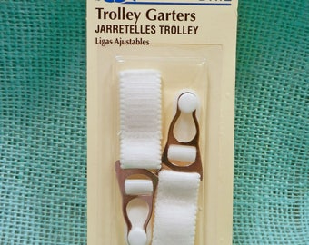 Pair of Trolley Garters for Stockings and corsets