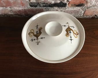 Edwin Knowles Rooster Weather Vane Covered Serving Bowl
