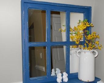 Rustic Farmhouse Mirror Nursery Mirror Bathroom Mirror Bathroom Towel Rack Blue Entryway Shelf Mirror For Entryway Entryway Mirror Bathroom