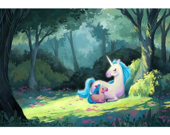Forest of Unicorns Giclée Art Print