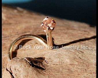 Champagne Diamond Style Gold Nose Stud - CUSTOMIZE