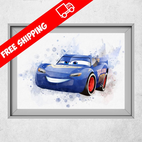 Disney Cars drucken Blitz McQueen Poster Disney Cars