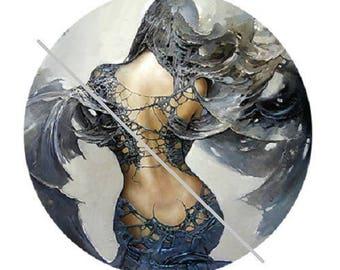 1 inch, pretty goddess of back, fairy