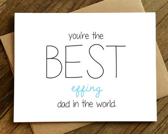 Funny Father's Day Card - Card for Dad - Dad Birthday Card - Best Dad in the World.