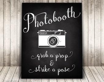 Wedding photobooth sign Wedding chalkboard sign Printable Wedding photo booth sign printable Chalkboard wedding sign