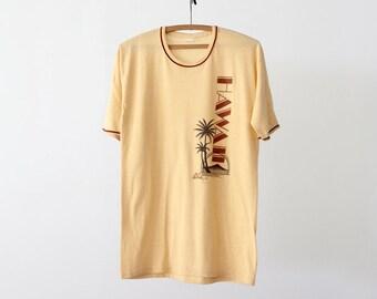 Hawaiian Yellow Super Soft Vintage T shirt