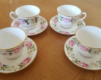Royal Worcester cups and saucers set of 4