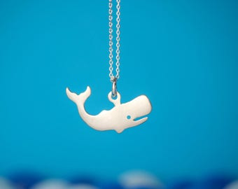 Whale pendant necklace Golden Whale necklace sterling silver Kids necklace Teen jewelry gift women animal pendant animal necklace gift kids