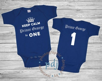 Personalized Keep Calm it's My Birthday - Prince is One - One Piece and/or Bib! Perfect for your little one's Birthday/Photoshoot/Party!